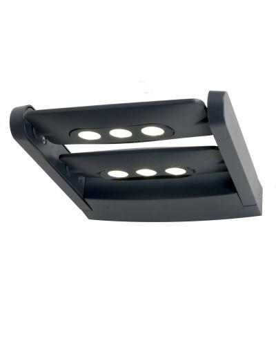 Elstead Lighting LEDSPOT 6 Light 18W Dual Adjustable Outdoor Wall Spotlight In Graphite Finish